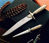 Ivory handled Bowie and Dagger